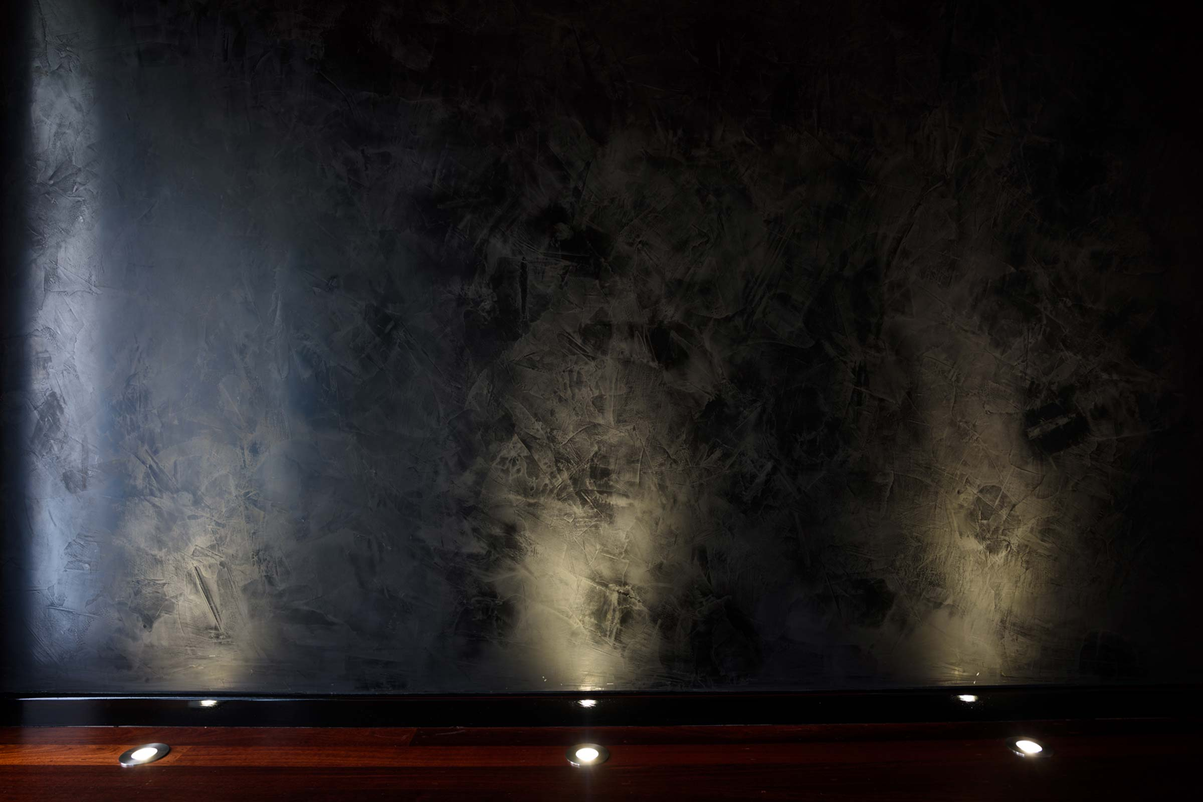 Dulux Acratex Venetian Plaster 02 Cafe Feature Wall Black