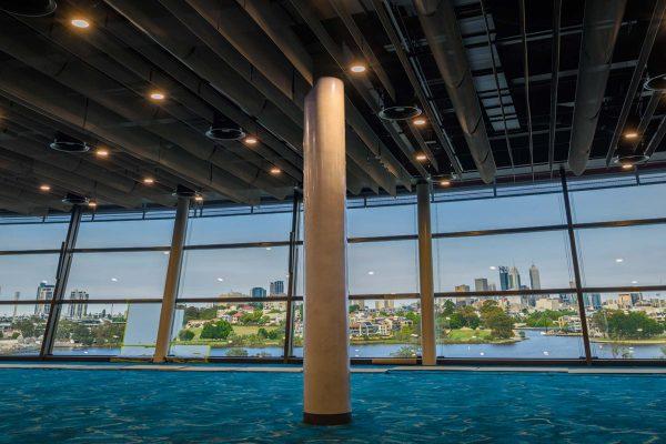 Dulux Venetian Plaster Perth Stadium 02 Marmorino Feature Column