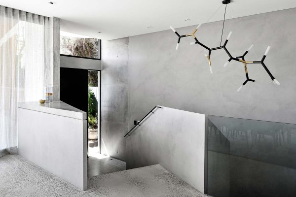 Venetian Plaster 01 Feature Staircase
